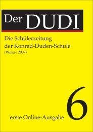 Die Schülerzeitung der Konrad-Duden-Schule erste Online-Ausgabe