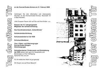 an der Konrad-Duden-Schule am 21. Februar 2009 Verbringen Sie ...