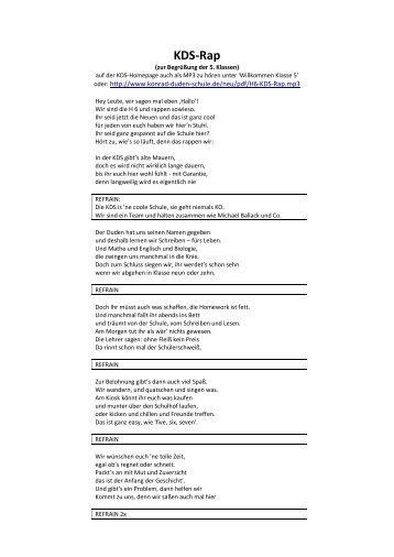 KDS-Rap - Konrad-Duden-Schule