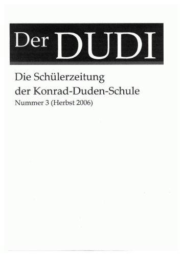 Die Schülerzeitung - Konrad-Duden-Schule