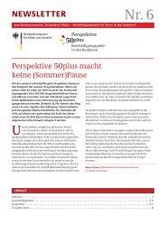 6. Newsletter 2010 - Perspektive 50plus