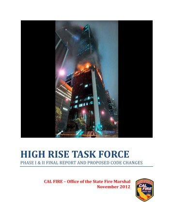 High-Rise Task Force Final Report - Office of the State Fire Marshal