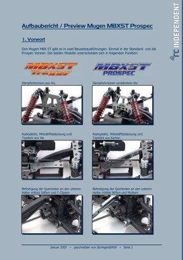 Aufbaubericht / Preview Mugen MBX5T Prospec - RC Independent