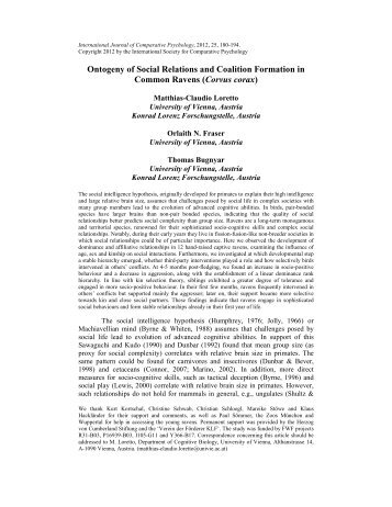 Ontogeny of Social Relations and Coalition Formation in Common ...