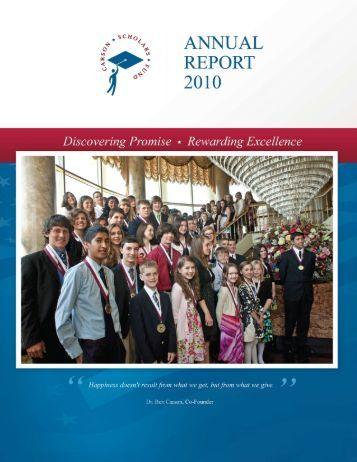 CSF Annual Report 2010 - Carson Scholars Fund
