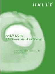 ANDY GUHL 2.5 Mikrometer Aktinfilamente - KunstHalle Wil