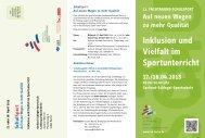 Flyer zur 11. Fachtagung Schulsport - Landessportbund Berlin