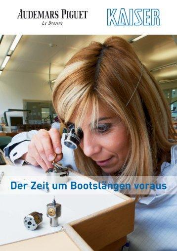 Der Zeit um Bootslängen voraus - Heinz Kaiser AG