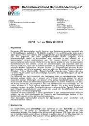 Info Nr. 1 - Badminton-Verband Berlin-Brandenburg e.V.