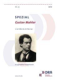 SPEZIAL Gustav Mahler - Deutsches Rundfunkarchiv