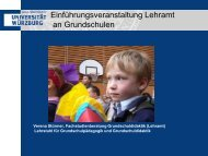 Einführungsveranstaltung Lehramt an Grundschulen - Lehrstuhl für ...
