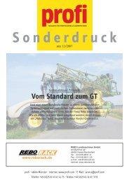 Vom Standard zum GT - Rebo Landmaschinen GmbH