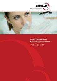 Profi-Laborbedarf aus Hochleistungskunststoffen ... - Blanc-Labo SA