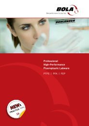 Profi-Laborbedarf aus Hochleistungskunststoffen PTFE ... - BOLA
