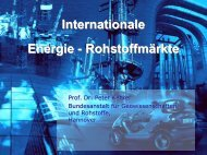 Internationale Energie - Rohstoffmärkte ... - ETI-Brandenburg