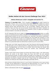 Heißer Herbst mit der Carrera Challenge Tour 2012