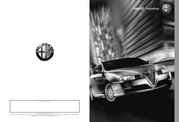 Preisliste Alfa Romeo GT, 3/2007 - mobilverzeichnis.de