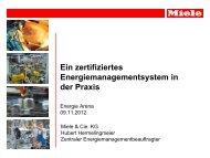 Ein zertifiziertes Energiemanagementsystem in der Praxis (Hubert ...