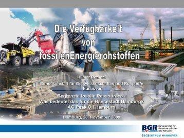 Begrenzte fossile Ressourcen - AG Peakoil Hamburg
