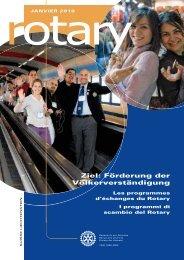 Ziel: Förderung der Völkerverständigung - Rotary Schweiz