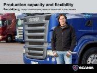 Presentation by Per Hallberg, Group Vice President, Head - Scania