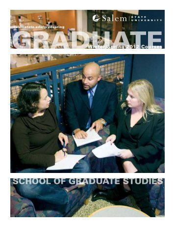 SCHOOL OF GRADUATE STUDIES - Salem State University