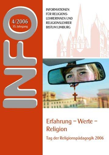 Erfahrung – Werte – Religion - service.bistumlimburg.de - Bistum ...