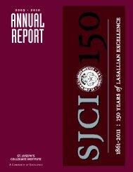 to download the 2009-2010 Annual - St. Joseph's Collegiate Institute