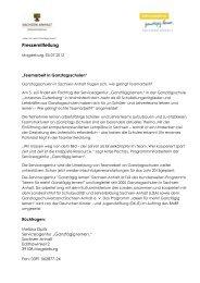 Vorlage Pressemitteilung - Ganztägig Lernen - Sachsen-Anhalt