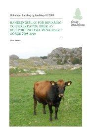 handlingsplan for bevaring og bærekraftig bruk ... - Skog og landskap