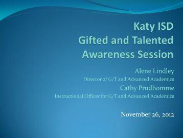 Parent Awareness - Katy ISD
