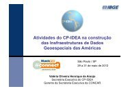 Atividades do CP-IDEA na construção das Insfraestruturas de ...