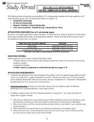 2011-2012 gt-sponsored study abroad scholarships - Office of ...