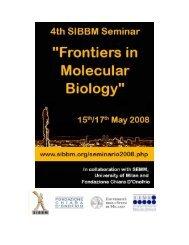 Abstract book (PDF) - SIBBM