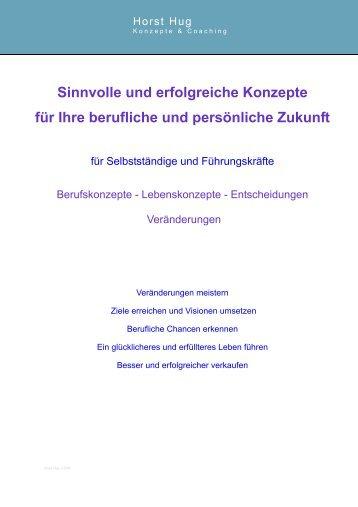 Broschüre Internet Seminar Stand Februar 2008 - Konzepte und ...