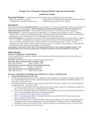 Emergency Response Plan for Study Abroad - Office of International ...