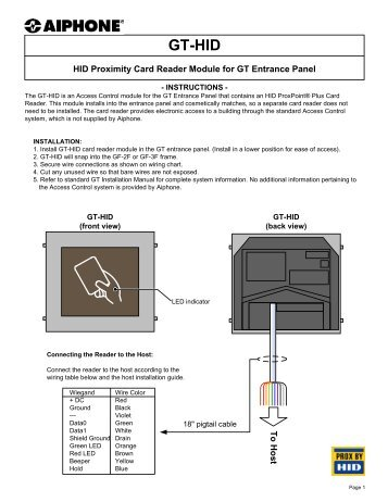 Hid Instruction Manual