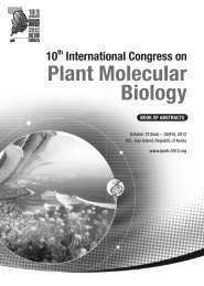 Plant Molecular Biology - 10th International Congress on Plant ...