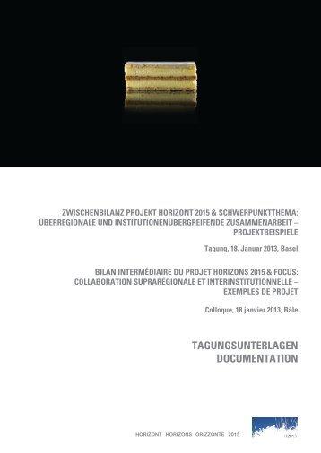 TagungsunTerlagen DocumenTaTion - horizont 2015