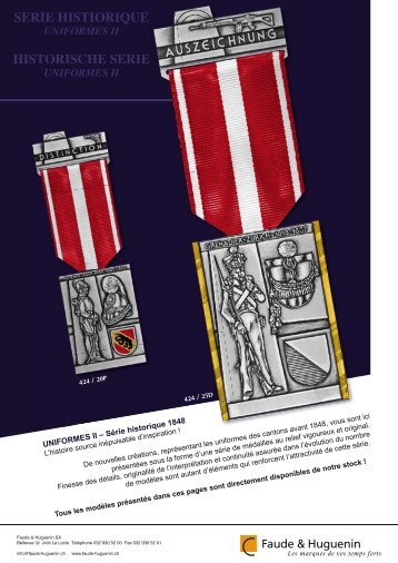 SERIE HISTIORIQUE UNIFORMES II ... - Faude & Huguenin AG