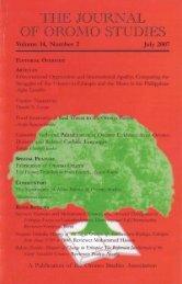 JOS volume 14 Number 2 (2007).pdf - Oromo Studies Association