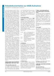 Schuldokumentation zur WSb-Aufnahme - Lehrer.uni-karlsruhe.de
