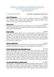 Elektrik-Elektronik Mühendisliği Bölümü Ders İçerikleri - Türkçe