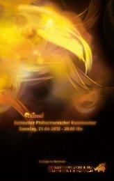 Estnischer Philharmonischer Kammerchor Samstag, 21.04.2012 ...
