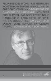 orchestre de chambre de lausanne - Konzerthaus Dortmund