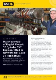 GSE Rail Case Study - GS Engineering (Wirral)