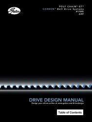 Design your drives online at www.gates.com - MS Representaciones