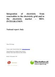 Integration of electricity from renewables to the electricity grid and to ...