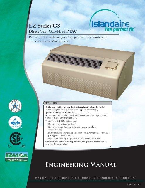 Engineering Manual Islandaire
