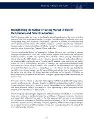 Strengthening the Nation's Housing Market to Bolster the ... - HUD